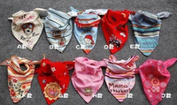 babys cloths - 50pcs infants toddlers Cotton Bibs babys Wipes Wraps Burps Cloth Scarf Bandage neckerchief muffler