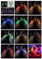 LED Light Up Shoe Shoelaces Shoestring Party Flash Glow Stic...