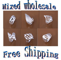 Wholesale 100 new high quality silver rings style mixed fashion jewelry