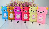 Wholesale Soft Silicone rilakkuma bear teddy cartoon Case back cover For iphone s