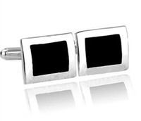Wholesale Square cufflinks silver cufflinks Europe amp United States selling stylish pairs