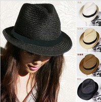 Wholesale Fashion cap Beach cap sun helmet lady sun hat fedora hat Jazz cap mix colors
