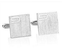 Wholesale 6 off hot sale Stripes Quartet cufflinks silver cufflinks Fashion many style pairs