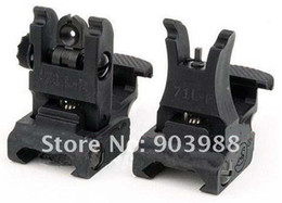 Hot FMAA.R.M.S. #71L ARMS Polymer Front & Rear Flip-up Sight Black
