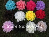 Wholesale quot chiffon silk flowers rosette flowers petti skirt flowers mix colors