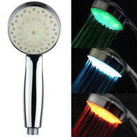 Wholesale NEW ROMANTIC COLOR LED SHOWER HEAD LIGHTS HOME WATER BATHROOM BATHTUB SINK
