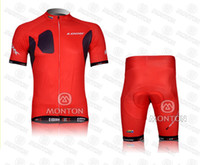 Wholesale New LOOK red Cycling jersey and Shorts summer Bicycle Clothing suit cycling wear set bike wear
