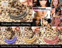 Round basketball hoop sales - Hot sale EMS transport Basketball Wives Hoop Earrings Crystal Rondelle Rhinestone Beads mm