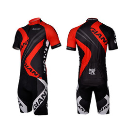 HOT GIANT Red Outdoor Cycling Bike Jersey + shorts Bicycle S - 3XL