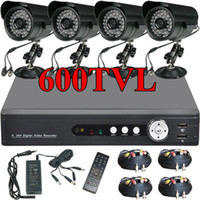 Wholesale TVL IR Super HAD CCD Security Camera CH G H Net DVR CCTV system