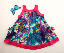 Wholesale Children clothes baby Girls dress High grade princess kids butterfly flower piece lingtongbaby