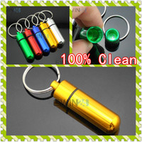 50x14mm Pill Container Box Case Keyring Keychains New Good Q...