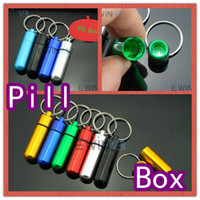drugs - 14x50mm Waterproof Mini Aluminum Pill Box Case Bottle Container Drug Holder Keychain