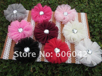 Wholesale fashion baby lace headband lace headbands with mesh flower soft material baby headbands