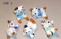 ceramic figurines - tiny mini ceramic cat rabbit deer figurine toys kids classic educational school