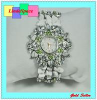Wholesale Luxury white rhinestone ladies quartz watch stainless steel bangle watch