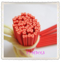 Wholesale mm Light Red Bowknot Cane Fancy Nail Art Polymer Clay Cane Nail Art Deco
