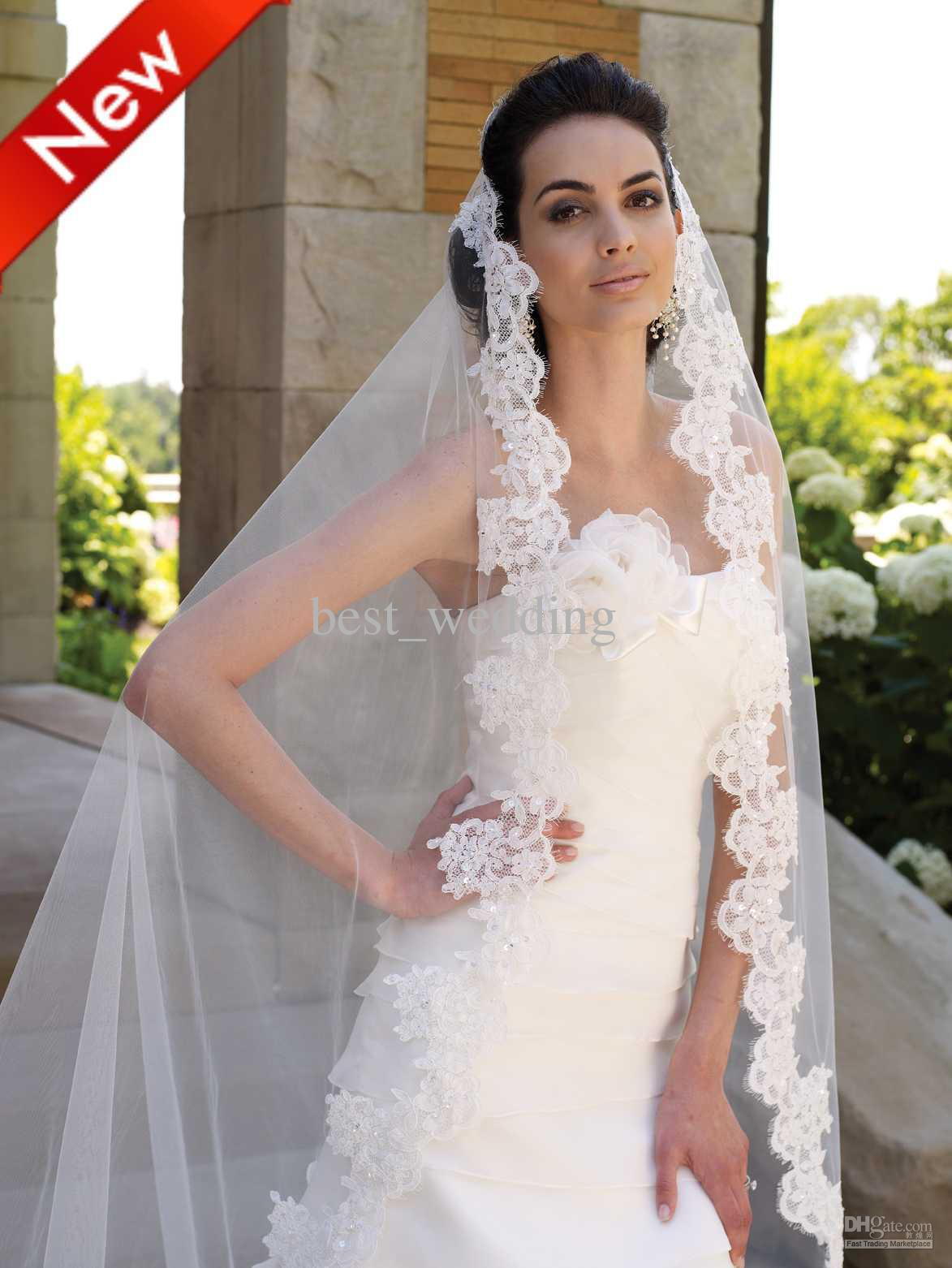 Lace Wedding Dress And Veil : Wedding veils romantic decoration