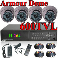 Wholesale CCTV Full D1 FPS H DVR TVL HD Armour dome Security Camera System Surveillance