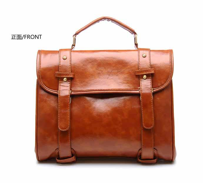 New Fashion Classic Handbags Unisex Document Bag Fascinating Brown