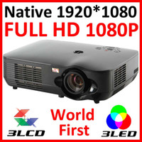 Wholesale Native P LED LCD Video FULL HD Projector inch Screen Home Theater