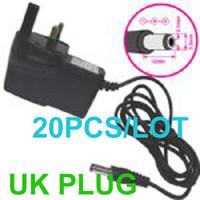 Wholesale V A DC UK Socket Switch Power Supply Adapter for CCTV Camera PJ05