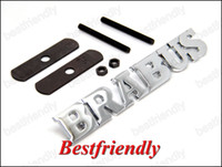 Wholesale Metal D Brabus Car Auto Badge Emblem Hood Grill Mesh Bolt Sports Badges Emblems Retail Box