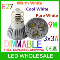 Wholesale Free shpping x Dimmable W W W E27 GU10 MR16 High Power Led Light Bulb Spot Lamp Led Lighting