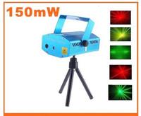 Wholesale X12pcs DHL MW Mini Red Green Moving Party DJ light Led Laser Stage Light Twinkle V Hz With Tripod