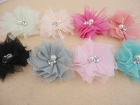 Hair Clips tulle all suit Queen Baby 2 1 2 Mini Tulle Mesh Flower Hair Clip Cute Girl Clips YOU CHOOSE 240pcs lot