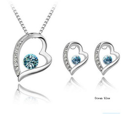 Fashion Crystal Jewelry set with Necklace and Earrings Swarovski Element Crstal Jewelry Set
