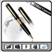 Wholesale Spy Camera Spy Pen Camera Golden With Black Color Hidden Webcam Camera
