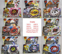Wholesale 8 Styles Clash Metal D Beyblades Spinning Tops BB118 BB119 BB120 BB121A BB121B BB121C etc