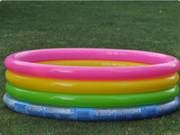 Wholesale kids pvc water pool with hand pump kids inflatable swimming pool INTEX free express