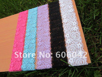 Wholesale 1 quot fashion baby lace headband soft material baby headbands mix color