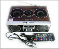 Wholesale Mini Sound box Boombox MP3 player Mobile Speaker SD USB FM SU12 in stock
