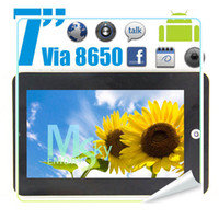 Wholesale Android VIA C7 Tablet PC VIA G RAM M P Camera G Wifi GHZ D Games