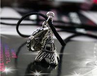 Wholesale 15pcs Women Mens Eiffel Tower Leather Necklaces Unisex Fashion Dress Sweater Pendant Necklace Dangle