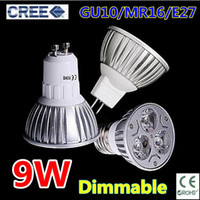 Wholesale Retail High power led lamp W GU10 MR16 E27 E14 GU5 Led Light Dimmable Led Spotlight Bulbs