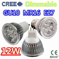 Wholesale 20pcs High power CREE W x3W Dimmable GU10 MR16 E27 E14 B22 Led Light Lamp Spotlight led bulb