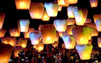 Wholesale Christmas gift Wishing Lamp xmas gift sky lantern Christmas Lights Chinese Lanterns