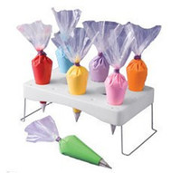 Metal bags trays - CAKE PIPING ICING NOZZLE DECORATING BAG HOLDER TRAY HOT CAKE DECORATION
