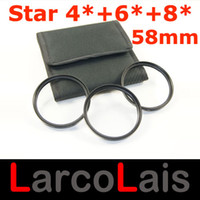 Wholesale 49 mm X X X PT PT PT Point Line Star Filter With Case for mm Lens DSLR Camera