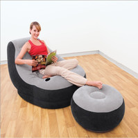 Wholesale inflatable chaise lounge with air footstool single air chaise lounge Intex free express