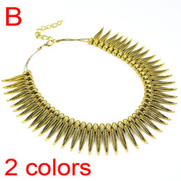 Fashion antique gold & silver metal tennis leaf collar pendant necklace for women chunky double strand custom necklace .NL-1735