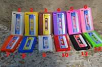 cassette case - Retro Cassette Tape Case Soft Silicone Cassette Tape case back Cover for iphone S mix colors