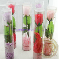 Wholesale Long Stem Rose Soap Flower Petals SPA Bath Wedding Bridal Shower Favor Valentine s Day Gifts