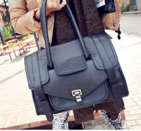 Wholesale 2012 Vintage New postmen bag Women s lady briefcase attache case shoulder handbag bag
