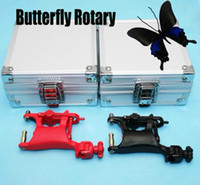 Wholesale 2 Swashdrive WHIP Rotary Tattoo Machines Red Black Butterfly Gun amp Aluminum Gun Boxes Tattoo Kits Supply