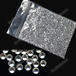 Wholesale 20000 Clear Crystal Glitter Nail Art Rhinestone Decoration mm New